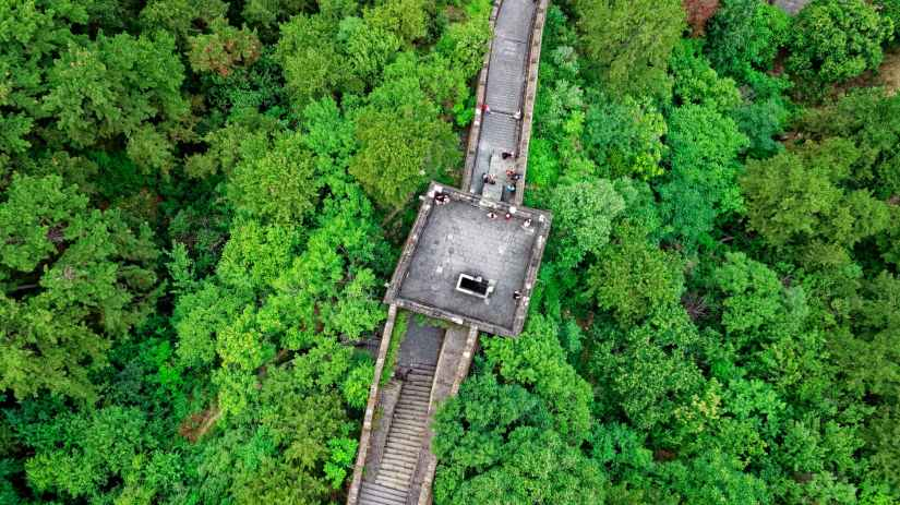 aerial view photography of great wall of china