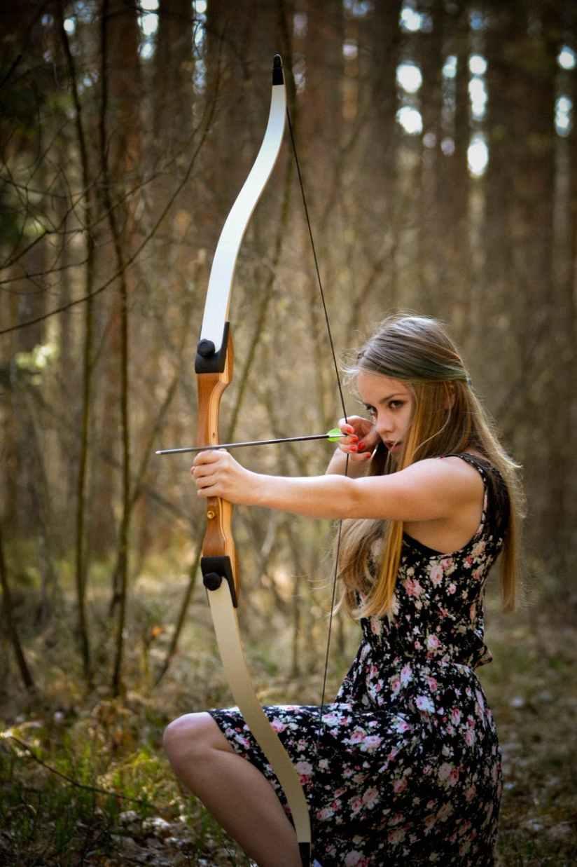 adult archery beautiful beauty