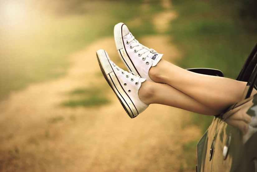 nature woman feet legs
