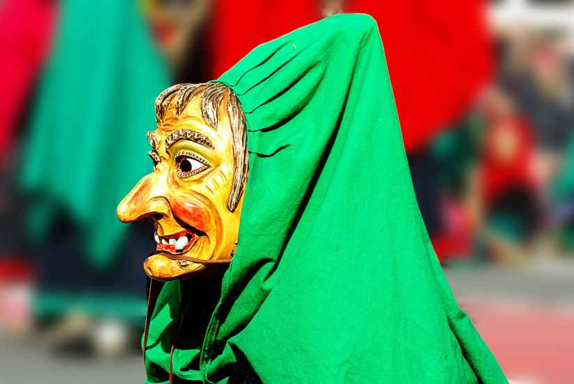 colorful costume monster mask
