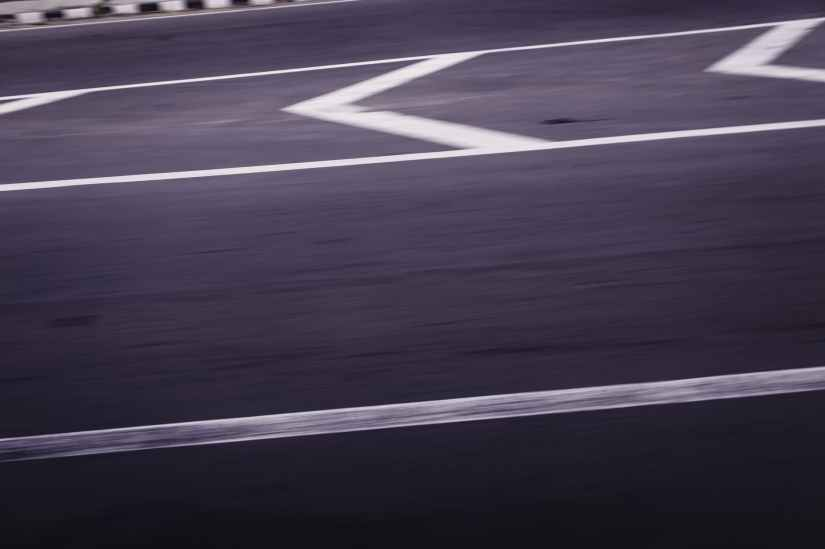 blurry photo of roadway