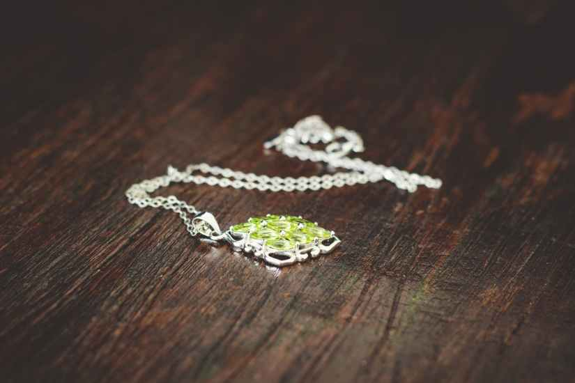 women s green necklace