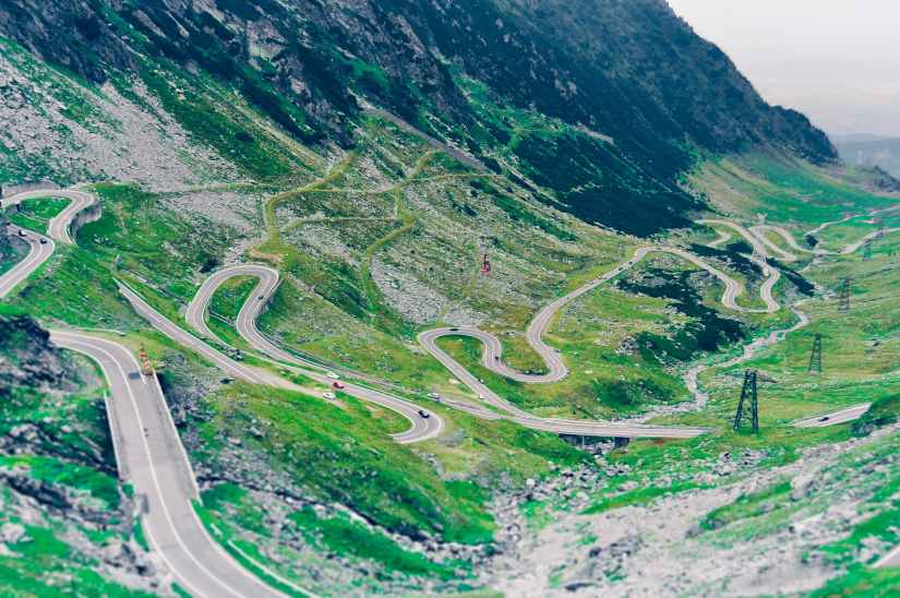 aerial photo of green scenery and winding road