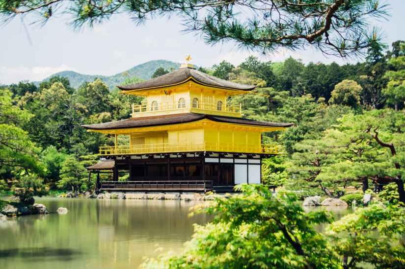 sky sunny trees temple