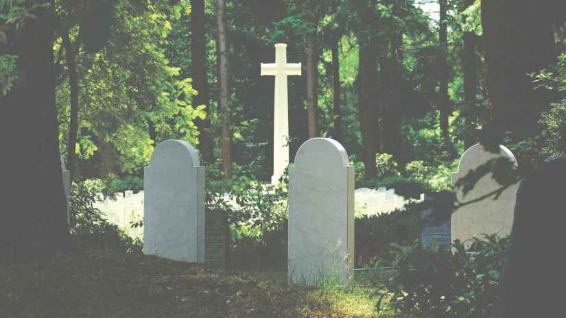 burial cemetery cross daylight