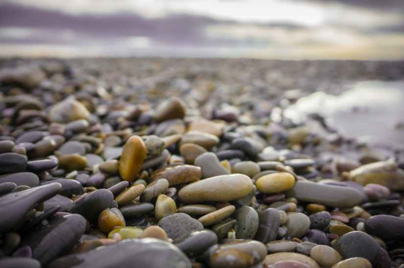 close up photography of wet stones