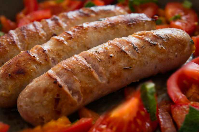 cooked sausage