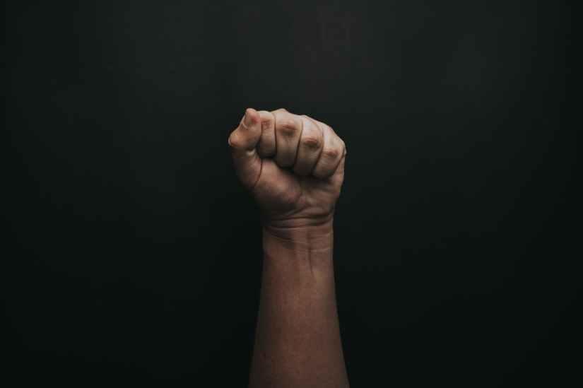 person s fist