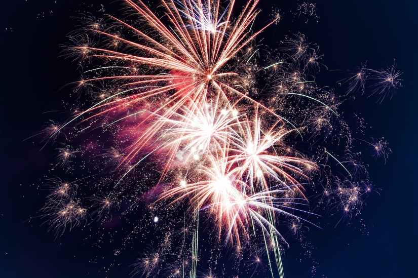 low angle photo of fireworks